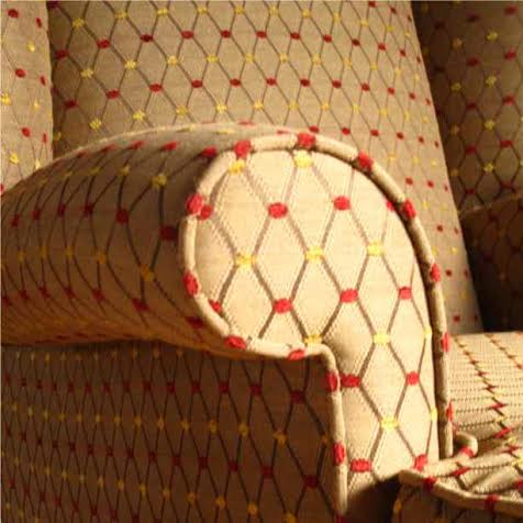 red diamond pattern fabric