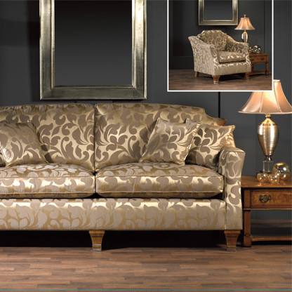 gold floral damask upholstery fabric