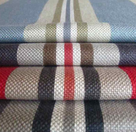 striped linen upholstery fabric