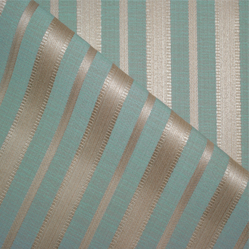 Duck Egg Blue And Cream Curtain Fabric Curtain