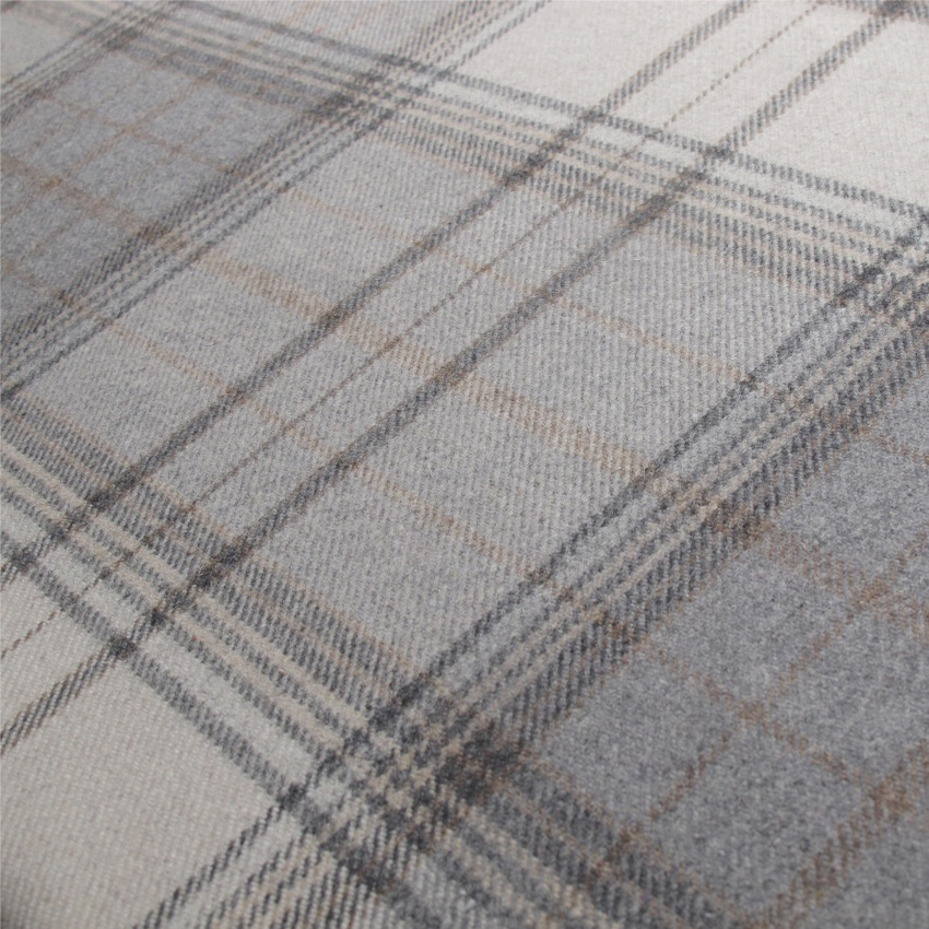 Tartan Plaid Grey Wool Curtain And Upholstery Fabric Iona Flint