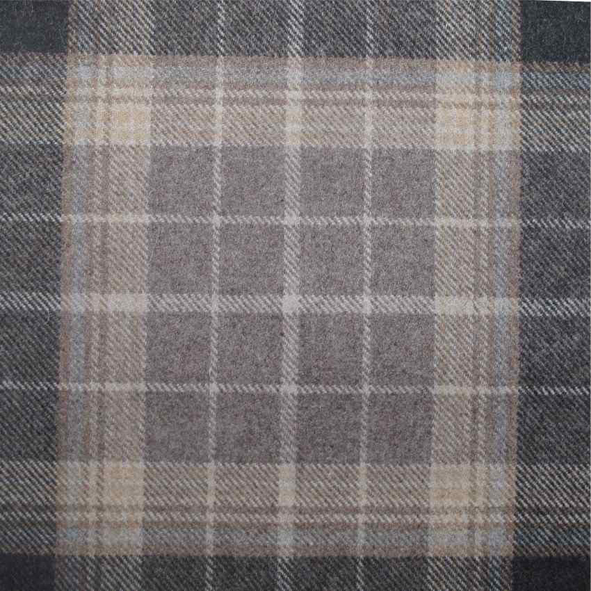 Tartan Plaid Brown Wool Curtain And Upholstery Fabric
