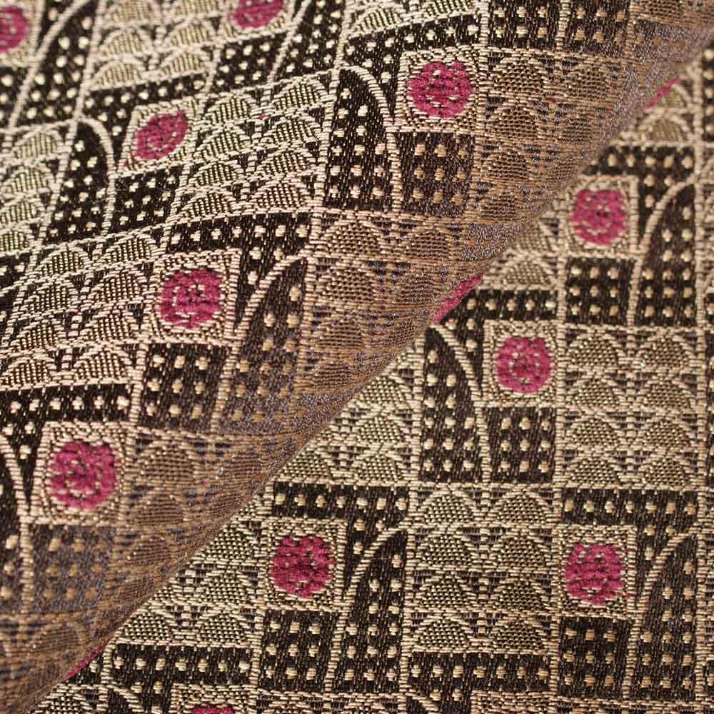 Art Deco / Art Nouveau Flat Weave Fabric | Rosenbogen (Arched Roses ...