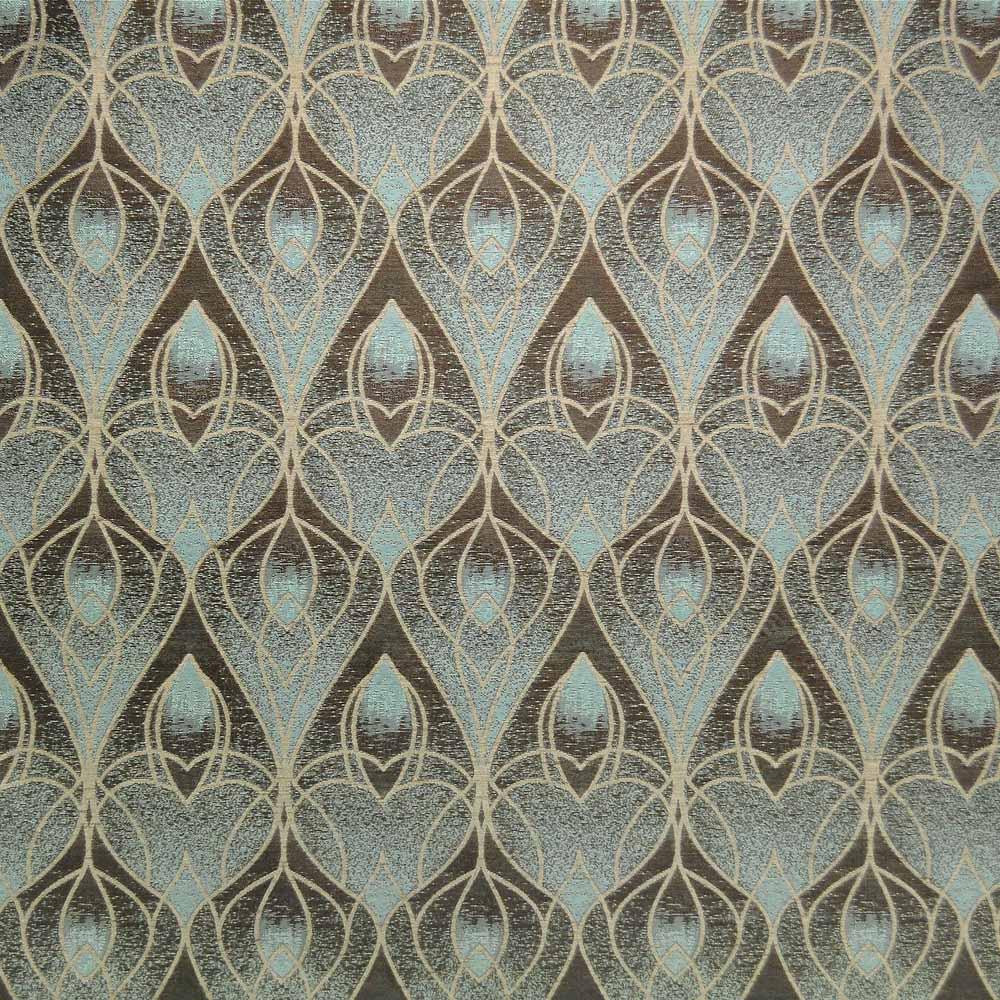Art Nouveau Teal Pattern