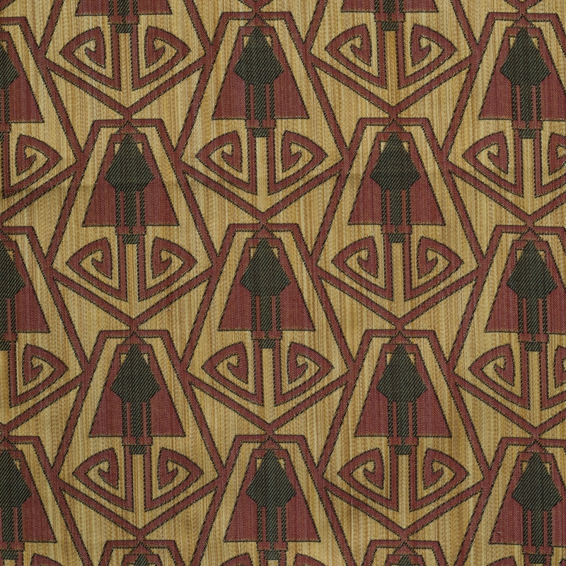 Art Deco Art Nouveau Flat Weave Curtain And Upholstery Fabric