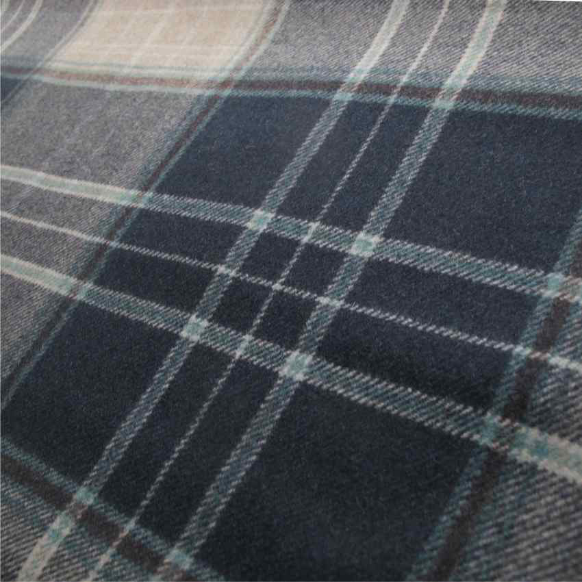 Arts And Crafts Blue Wool Upholstery Fabric Contract Curtain Iona