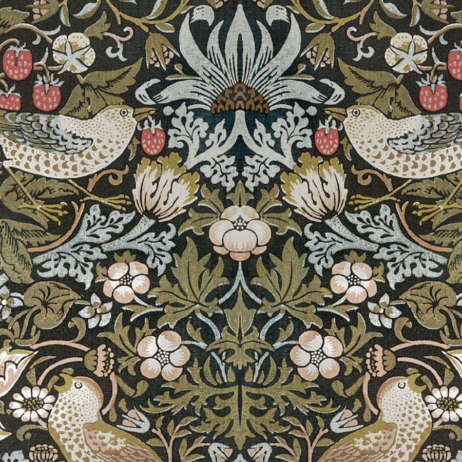 Arts Crafts W Morris Linen Fabric