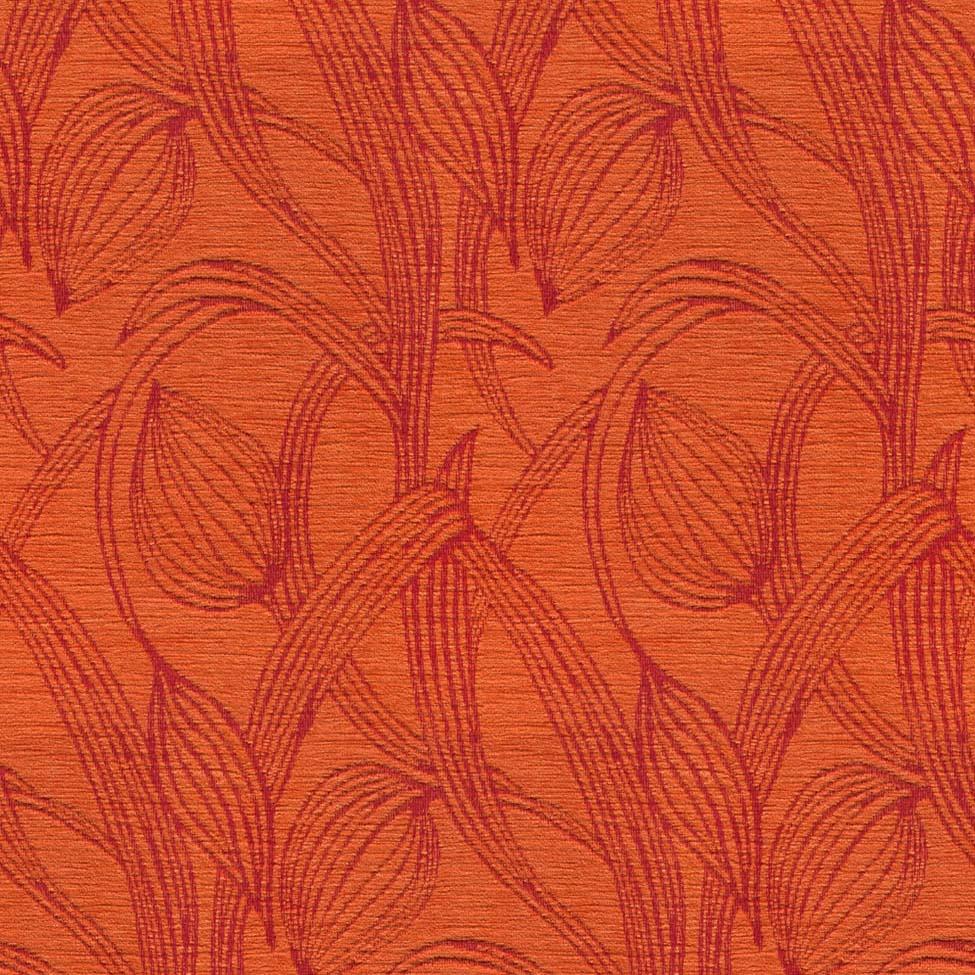 Art Deco Art Nouveau Burnt Orange Upholstery Fabric Art Nouveau