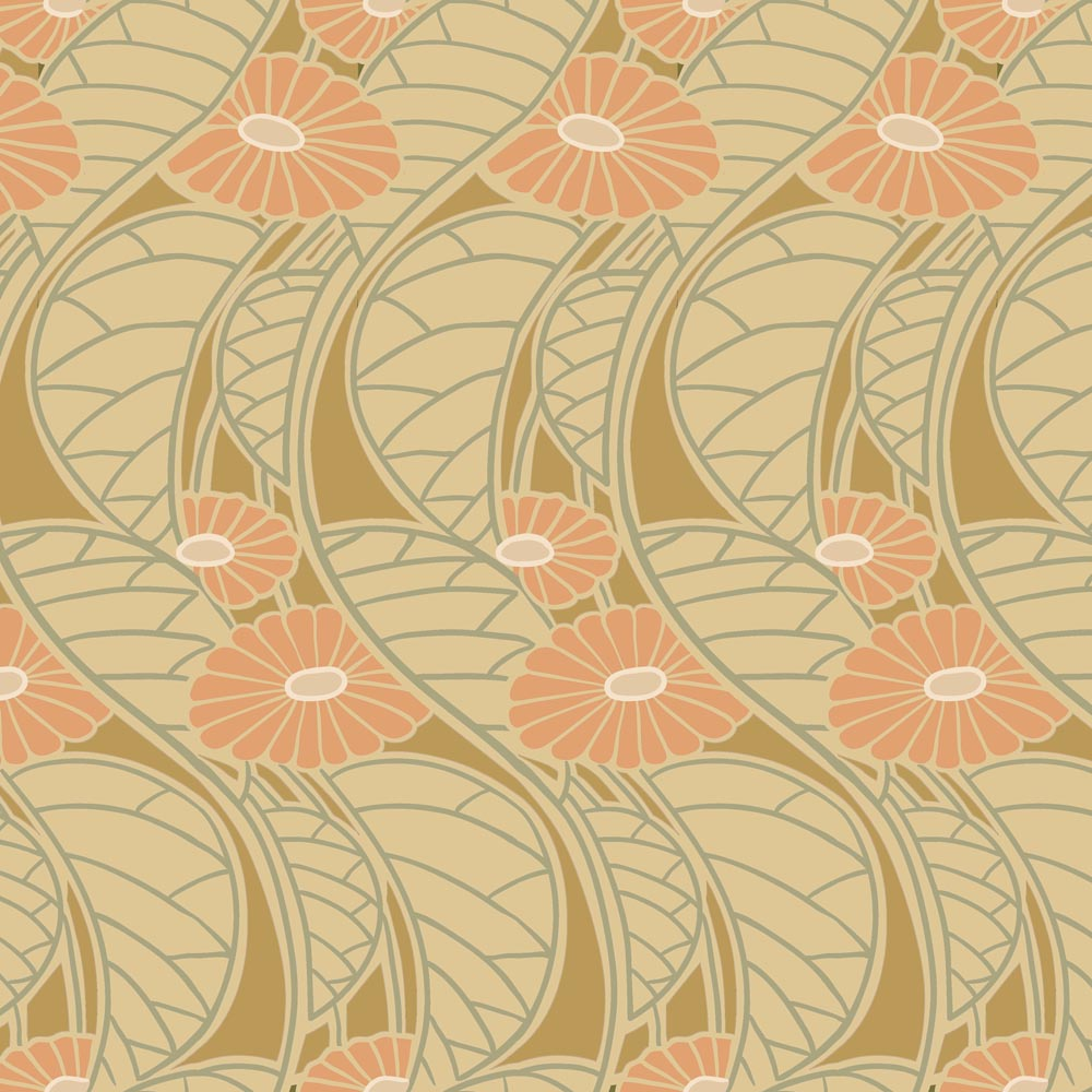 Art Deco / Art Nouveau Cotton Prints | Rennie Beauclair Daisies from ...