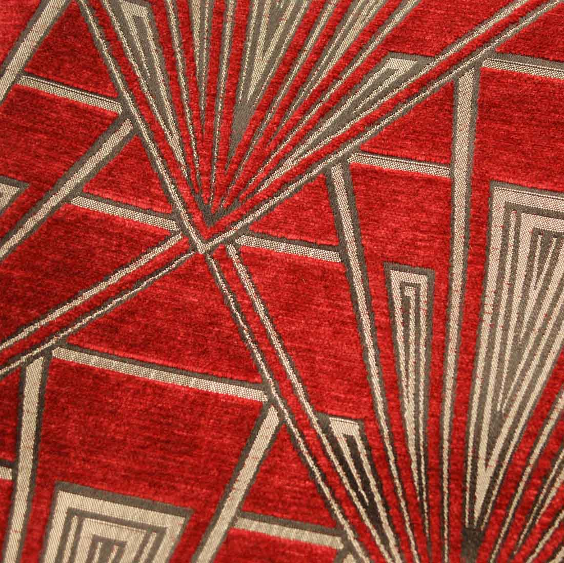 Geometric Art Deco Style Upholstery And Curtain Fabric