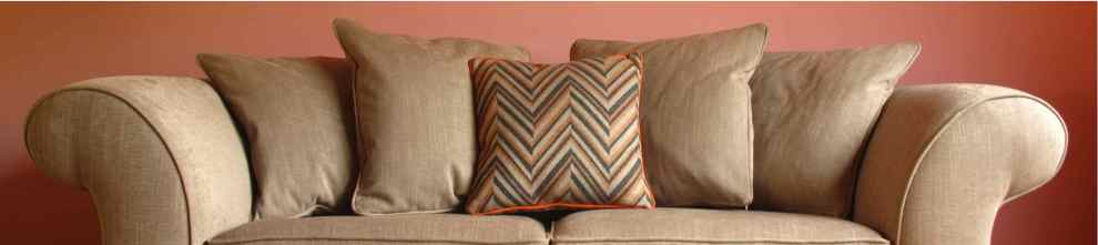 Some elegant cushions made from Loome fabric