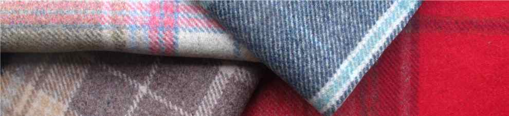 image of Loome blue check upholstery fabric