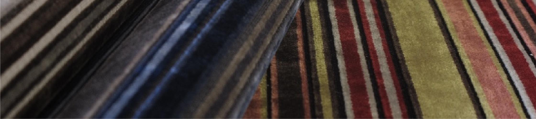 Velvet Stripe Fabric Velvet Stripe Upholstery Fabric Velvet Stripe Curtain Fabric Gorgeous Vel