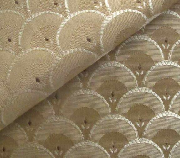 Clarice art deco style fabric shell pattern fabric for Patterned material fabric