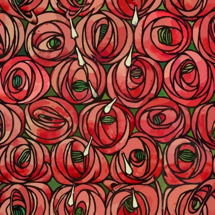 Curtain And Upholstery Fabric Charles Rennie Mackintosh